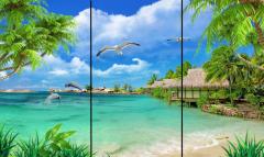 全新3D高清晰立体画面碳晶墙nuan取nuan器诚邀加盟经xiao